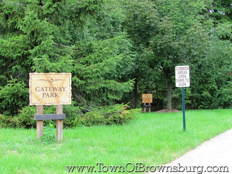 Eagle Crossing, Brownsburg, IN: Park Entrance