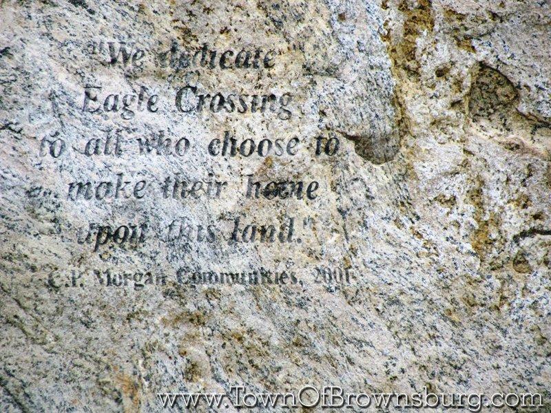 Eagle Crossing, Brownsburg, IN: Granite Stone at Entrance