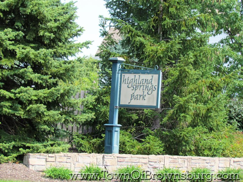 Highland Springs, Brownsburg, IN: Subdivision Sign at the Recreational Area