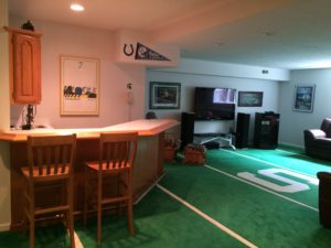 This basement was made for entertaining!